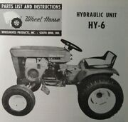 Wheel Horse Tractor Hydraulic Implement Lift Installation And Parts 2 Manual S
