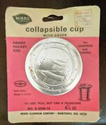 Vintage New Old Stock Mirro Aluminum Collapsible Cup Sail Boat On Lid Sealed