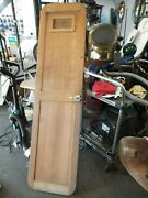 Marine Boat Solid Teak Door With Mirror, Handle And Hinges  - Used