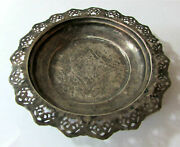 Antique Baby Feeding Ottoman Silver Plate Dish Floral Ornament Platter Bowl