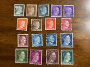 17 Adolph Hitler Stamp Set / Very Good Condition / Andnbspwwii Germany / 1941-1944