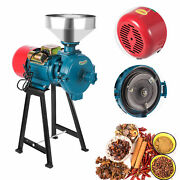 110v Electric Grinder Feed/flour Mill Cereals Wetanddry Grain Corn Coffee Wheat