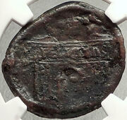 Postumus Authentic Very Rare 260ad Sestertius Trophy Arch Roman Coin Ngc I67814