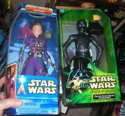Star Wars 12 Inch Death Star Droid Power Of The Jedi, And Aotc Zam Wesell, Both