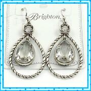 Brighton Compassionate Silver French Wire Earrings Nwot 72