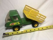Vintage Tonka Toy Truck Pressed Steel Forest Forestry Tilt Bed Stake Truck