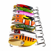 8pcs 6cm/12.5g Insect Cicada Fishing Lure With Metal Wings Crankbait Bass Bait
