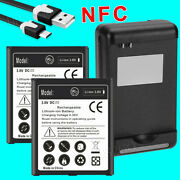 High Capacity 6270mah Nfc Battery For Samsung Galaxy S4 W/ Usb/ac Charger Cable