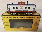 ✅mth Railking Cambria And Indiana Lighted Steel Caboose 30-77054 O Gauge Train