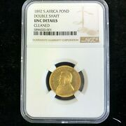 1892 S. Africa Pond Double Shaft Ngc-unc Details Cleaned
