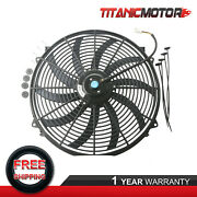 10 Blades 12volts 16 Inch Universal Slim Push Pull Electric Radiator Cooling Fan