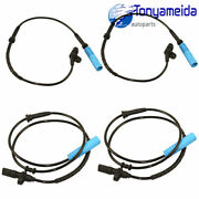 4 Pcs Front And Rear Set Abs Wheel Speed Sensor For Bmw 740i 740il 750il 1998-2001