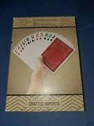 Jumbo Playing Cards 4.7 X 6.7 Complete Deck Crafted Imports Easy To Read