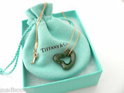 And Co 18k Gold Large Jade Gemstone Heart Necklace Pendant Gift Love Pouch