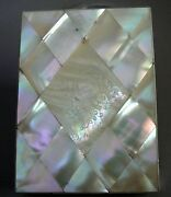 Antique Victorian Calling Card Case, Mother Of Pearl. England C.1850