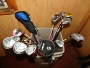 New Lot Of 23 Golf Clubs 16 Woods And 7 Irons New Old Stock Orlando