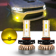 For Dodge Charger 2010-14 3000k Golden Yellow 2504 100w Led Front Fog Lamp Bulbs