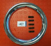 Original Wheel Trim Ring For Mercedesw108 W109 W111 W112 Chrome Plated 14 Inch