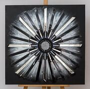 Mirror Painting Handmade Star. Made In A Single Copy From Real Mirror