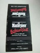 Matchbook Cover Kc Masterpiece Bbq And Grill 110th And Metcalf Overland Park Ks 135