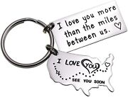 Lparkin Love Keychains For Couples I Love You More Than The Miles Between Us Iand039l
