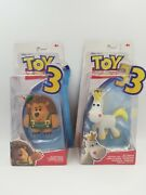 Disney Pixar Toy Story 3 Buttercup And Mr Pricklepants Action Figures Mattel New