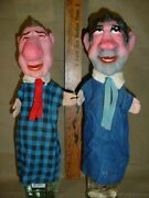 Vintage Richard Nixon And Spiro Agnew 14'' Hand Puppets Made In Western Germany