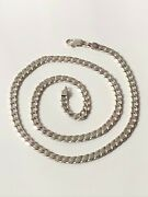Chunky Sterling Silver '925' Kerb Chain 20 Necklace 24.69g Statement Trophy