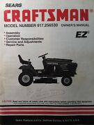 Sears Craftsman 15.5 H.p 42 Hydro Lawn Tractor Owner And Parts Manual 917.256530