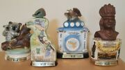 Vintage Jim Beam Whiskey Decanters Lot Of 4