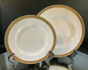Royal Crown Derby--blanchard Dinner And Salad Plate--barcode--buy It Now