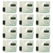 Hydrofarm 7 Day Dual Outlet Digital Programmable Timer Controller 12 Pack