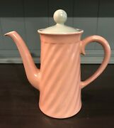 Vintage Franciscan Wishmaker Coral Coffee Pot W/lid Swirled Blue Interior 1941