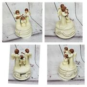 Schmid Musical Collectibles Kid Angels Playing Music Box By B Shackman 1989