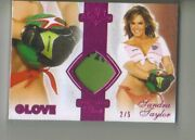 2011 Benchwarmer Authentic Piece Glove Sandra Taylor Red Foil Swatch 2/5