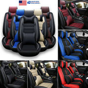 Pu Leather Car Seat Cover Universal 5-sits Set Protectors Front Rear Accessories