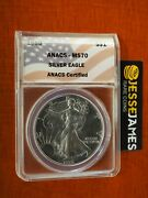 1989 1 American Silver Eagle Anacs Ms70 Flag Label