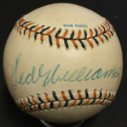 Ted Williams Signed 1992 All Star Game Official Baseball Hof Autograph Psa Coa