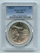 1983 P 1 Olympic Silver Commemorative Dollar Pcgs Ms70