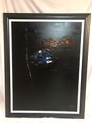 """Abstract Oil Painting By A. Blackmore Signed 48"""" X 36"""" Canvas Framed In Chicago"""