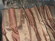 """Custom Cowtanandtout Tanandred Stripe Pinch Pleat Drapes 2sets Available 93""""l"""