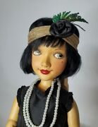Xenis Collectible Limited Edition Suzy Flapper Wooden Doll 7/230