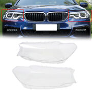 2x Clear Headlight Lens Covers For 17-18 Bmw 5 Series G30 520d 520i 525d 530d