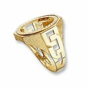 9ct Yellow Gold Full Sovereign Curb Sides Coin Mount Ring Sizes Q-z Contact Us