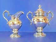 Rare Sugar Canister And Creamer Jones Lows And Ball Forerunner Shreve Crump And Low