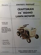 Sears Craftsman 26 Riding Lawn Mower Tractor 7 Hp Owner And Parts Manual 131.96315