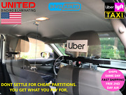Taxi Lyft Uber Sneeze Guard Car Partition Shield - Ultra Clear Vehicle Partition