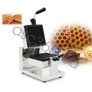110v Electric Honeycomb Rotary Waffle Maker Nonstick Iron Oven Snack Breakfast
