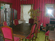 Antique Solid Dark Oak Dining Room Extension Table And 7 Jacobean Style Chairs