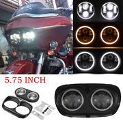5.75 Inch Motorcycle Dual Projector Led Headlight For Harley Davidson Road Glide